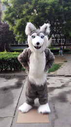 husky wolf cartoon NZ - Professional custom Fursuit Husky Mascot Costume Cartoon husky huskie wolf animal character Clothes Halloween festival Party Fancy Dress