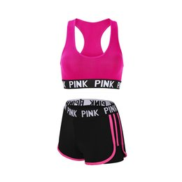 gym clothing wholesalers Canada - Gym Set Women Yoga Set Women Workout Clothes Running Sport Gym Wear Jogging Sports Bra Shorts Conjunto Sport Mujer