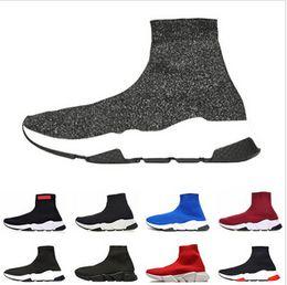 $enCountryForm.capitalKeyWord Australia - 2019 Speed Runner Shoes Sock Designer Shoes Triple Black Oreo Red Flat Trainer Mens and Women Shoes
