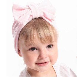 $enCountryForm.capitalKeyWord Australia - Infants Bow Caps Toddler Woolen Caps Bowknot Cashmere Beanies Baby Solid Warm Hat Children Haar Hair Accessories Winter Turban
