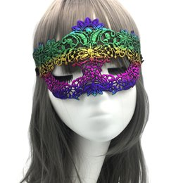face mask fun Australia - Masquerade Performance Props Party Half Face Styling Lace Masks Hot Gold Halloween Mask Fun Eye Mask Masks Halloween Mask Wholesale