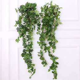 Wholesale 1 M Fake Greenery Garland Artificial Hanging Plants Plastic Leaves Ivy Spray Vine Wall Decor Faux Foliage Wedding Garden Wall Deco
