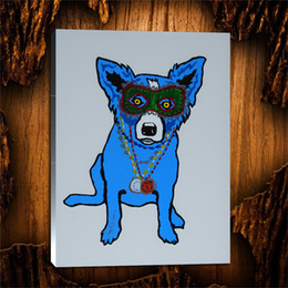 $enCountryForm.capitalKeyWord NZ - Blue Dog Mixed Media -3,1 Pieces Canvas Prints Wall Art Oil Painting Home Decor (Unframed Framed) 24X32.