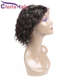 Discount indian deep wave wigs - Raw Virgin Indian Deep Wave Short Pixie Lace Front Human Hair Wigs Bob Curly Frontal Wig For Black Women Cheap Pre Pluck