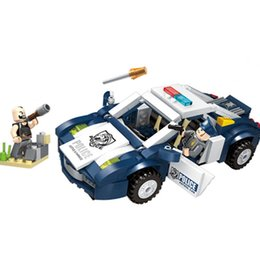 $enCountryForm.capitalKeyWord UK - 303pcs Police Series Children's Educational Building Blocks Toy Compatible City Police Detective Diy Figures Bricks J190719