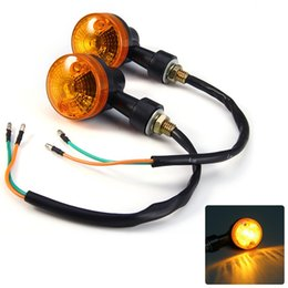 2 pcs 12 V Motocicleta Turn Signal Indicator Lâmpada Luz LED Blinker Universal para Moto Esporte Rua Corrida de Bicicleta venda por atacado