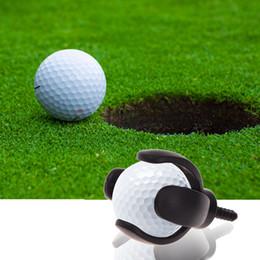 $enCountryForm.capitalKeyWord Australia - mini Rubber Golf Ball Pick Up Putter Grip Retriever Tool Suction Cup Pickup Screw golf training aids black