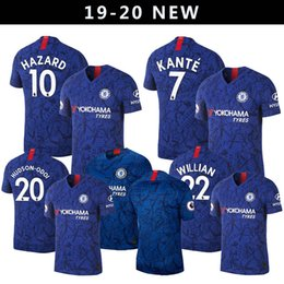 17fbb53ec 18 19 Maillot Soccer Jersey 7 N Golo Kante 22 da Silva 10 Eden Hazard 20  Callum Hudson Home Away Jersey Kit Futbol Camisas Football Shirt