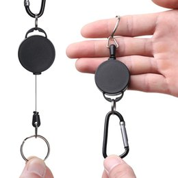 Wholesale 1PC Retractable Keychains with ABS Plastic Case and Inches Nylon Rope Recoil Key Ring Key Pendant Accessories Badge Holder