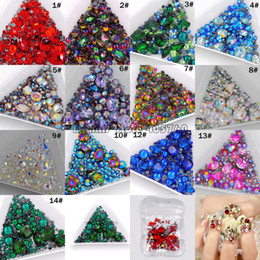 $enCountryForm.capitalKeyWord Australia - 1Pack Mix Sizes Mix Shape Multi-Colored Glitter 3D Diamond Facet Flat Back Rhinestones Acrylic Nail Art Crystal Gems Decoration