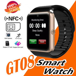 $enCountryForm.capitalKeyWord Australia - GT08 Smart Watch Bluetooth Men With Touch Screen Smartwatch Big Battery Support TF Sim Card Camera For IOS iPhone Android Phone