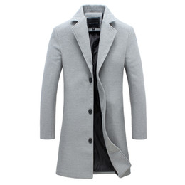 Discount wool winter coat grey men - New Winter Wool Coat Slim Fit Jackets Mens Casual Warm Outerwear Jacket and Coat Blends Suit Design Plus Size M-5XL