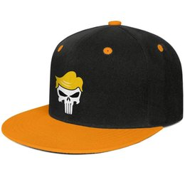 $enCountryForm.capitalKeyWord Australia - Trump punisher hair shaped Yellow for men and women trucker flat brim cap cool fitted custom design your own vintage cute best personalised