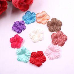 $enCountryForm.capitalKeyWord Australia - 100pcs lot Artificial Flower Rose Flower Petals For Wedding Home Decoration Handmade Wreath Scrapbook Fake Flower Decor Supplies
