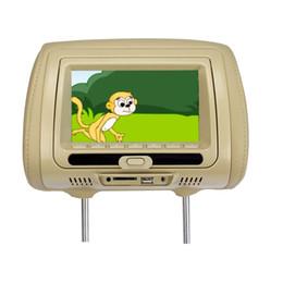 $enCountryForm.capitalKeyWord Australia - 7 inch TFT LED Display Auto Car Headrest Monitor Touch Button USB SD IR FM Game DVD Multi-Media Player 3 Colors Available SH7828DVD