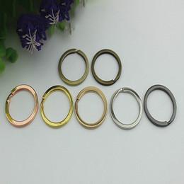 $enCountryForm.capitalKeyWord Australia - 25mm Key Ring Metal Keychain Buckle O Ring Clip Hook DIY Bag Leather Garment Hardware Crafts Accessory