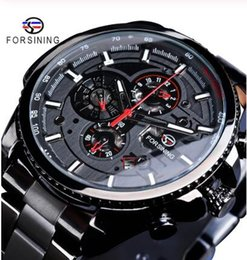 $enCountryForm.capitalKeyWord Australia - Three Dial Calendar Mechanical Wristwatches Black Stainless Steel Men Automatic Wrist Watch Top Military Sport Male Clock