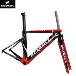 Wholesale SEQUEL DCRF05 carbon frames clearance sale cheap carbon frame road bike BSA factory price customizable years warranty