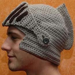 $enCountryForm.capitalKeyWord NZ - Funny Creative Viking Vikings Hand-Knitted Crochet Face Mask Rome Warrior Knight Crochet Mustache Knitted Helmet Hat Hats Caps