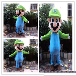 $enCountryForm.capitalKeyWord NZ - 2019 Top quality super mario mascot costume with Dark Brown Hair Costume for Halloween Party Adult Size Fancy Dress