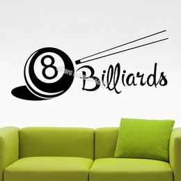 children room art Australia - Billiards Wall Stickers Interior Design Home Decor child Bedroom Baby room Snooker Game club Removable Decal Art Murals