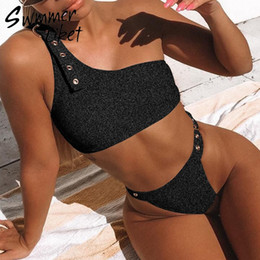 c812b128f Strappy belt sexy swimwear mulheres 2019 alta corte sheer swimsuit feminino  push up maiô brasil tanga biquíni conjunto de duas peças terno