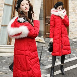 Lead Lines online shopping - Lining Cotton Girls Long Fund Wide Hair Lead Self cultivation Show Lanky Fund Overknee Cotton padded Jacket Cotton Loose Coat