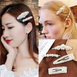 ponies pearls Canada - 2019 Popular Fashion Pearl Hairgrip Women Girls Hair Clips Bobby Pins Accessories For Women Barrette Hairclip Hairpin Headdress