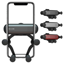 Mount claMp holder online shopping - Gravity Telescopic Car Mount Air Vent Cell Phone Holder Auto Clamping Compatible with iPhone XS XR Plus Samsung S9 S10