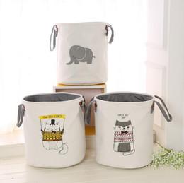 $enCountryForm.capitalKeyWord Australia - Thickened double storage bucket EVA storage baskets kids room toys clothing storage bags cotton laundry bag