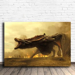 $enCountryForm.capitalKeyWord NZ - Mother Of Dragons Daenerys Targaryen Game HD Wall Art Canvas Posters Prints Painting Wall Pictures For Office Living Room Home Decor Artwork