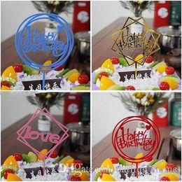 Xmas Cupcakes Australia - 29 Styles Happy Birthday Acrylic Cupcake Topper Wedding Decoration Centerpieces Kitchen Accessories Home Decor Xmas Party Supplies