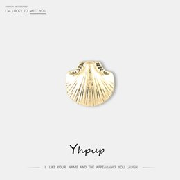 $enCountryForm.capitalKeyWord Australia - Yhpup Vintage Gold Silver Popular Shell Adjustable Rings Zinc Alloy Jewelry Accessories for Female Office Party Beach gothic New