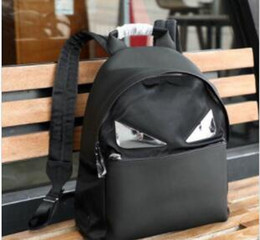 small leather backpacks Australia - Classic Fashion hot New Small Monster Men's Shoulder Bag Designer Luxury Leather Making Metal Mirror Recreational Men's Backpack