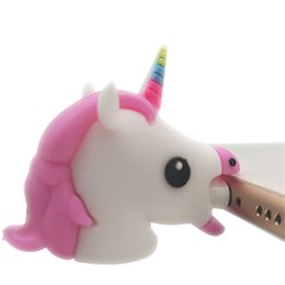 Usb Dolls UK - One Piece Unicorn Cable Bite Protector USB Data Line Protection Doll Animal Bite Accessory cable organizer for iphone 7 6 8 Plus X