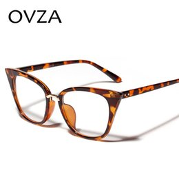 361457b1b4f OVZA Retro Cat eye Glasses Frame for Women Vintage Transparent Glasses  Frames Classic Cat Eyeglasses Womens S6066