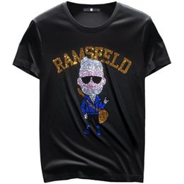 mercerized cotton t shirts UK - Summer Fashion Men's Diamond Design Mercerized cotton T Shirt Short Sleeve Mens Clothing Casual Hip-Hop Top Tees 0j1