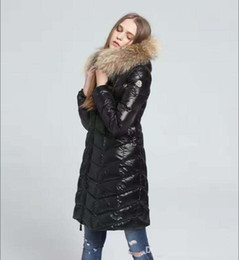 women s down parka sale Australia - Down & Parkas brand Winter Women Jackets Black White Duck Down Coats With Raccoon Fur Collar Hooded White Red Female Thinker Clothes Sale
