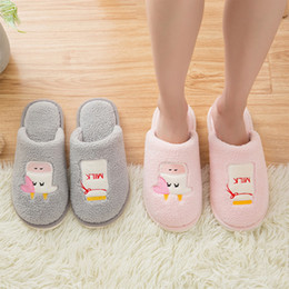 $enCountryForm.capitalKeyWord NZ - Adisputent New Kawaii Harajuku Women Slippers Cotton Cow Letter Warm Snow Winter Home Slippers Woman Men Indoor Shoes Kid