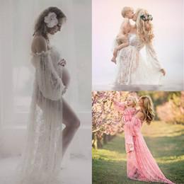d0d6984bd62 Nursing Maternity Clothing Photography Props Women Maxi Dress Floral Lace  Long Length Clothes Pregnant Women Pregnancy Clothes