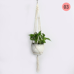 cotton plant flower NZ - Hanging Plant Basket Plant Hanger 100% Cotton Made 41.3'' 10 pack Flower Pot Holder For Indoor Outdoor Garden Home Decorations