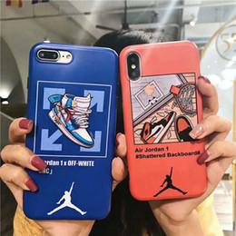 Nuovo guscio di telefono cellulare graffiti Basket 2019 iPhone 6s 6p X Samsung S8 S9 S10 note8 note9 set completo soft-shell coppia