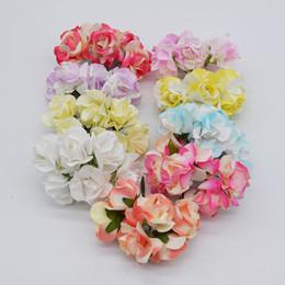 $enCountryForm.capitalKeyWord Australia - New 72pcs 3.5cm Silk Artificial Rose Flower Bouquet For Wedding Party Decoration Scrapbooking Wreath DIY Craft Flower