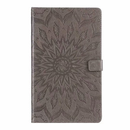 Waterproof Tablet China UK - For Samsung galaxy tab A 8.0 2018 T387 T387V SM-T387 Case Tablet Flip 3D Embossed Stand Cover For Samsung 2018 T387 +pen