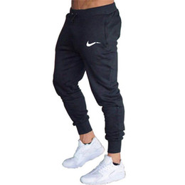Wholesale black white patterned pants resale online - Summer Mens Joggers Casual Pants Fitness Sportswear Bottoms Skinny Sweatpants Trousers Black Gym Jogger Bodybuilding Track Running Pants Men