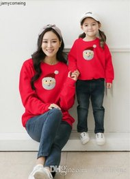 parent child clothing NZ - styles Autumn Santa and of winter new Claus parent-child clothing Europe and the United States plus velvet hoodies in the wholesale