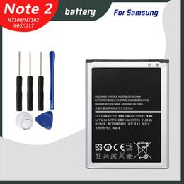 Samsung Note Battery NZ - Original Battery for Samsung Galaxy Note 2 N7100 N7102 N7105 T889 i605 i317 L900 R950 E250 EB595675LU 3100mAh