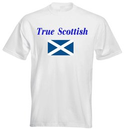 Wholesale True Scottish Scotland Flag Football Rugby Sport Game Race Gym Party Men T shirt