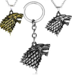$enCountryForm.capitalKeyWord Australia - Game of Thrones Necklace House Strek Lannister Targaryen Dragn Wolf Lion Pendant Keychain Stark family Necklace fashion Jewelry HYS387-14
