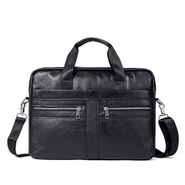 Genuine Leather Handles Australia - 2019 Time-limited Kvky Brand Business Men Briefcases 100% Genuine Leather Handbags Cow Large Messenger Bags Laptop With Handle